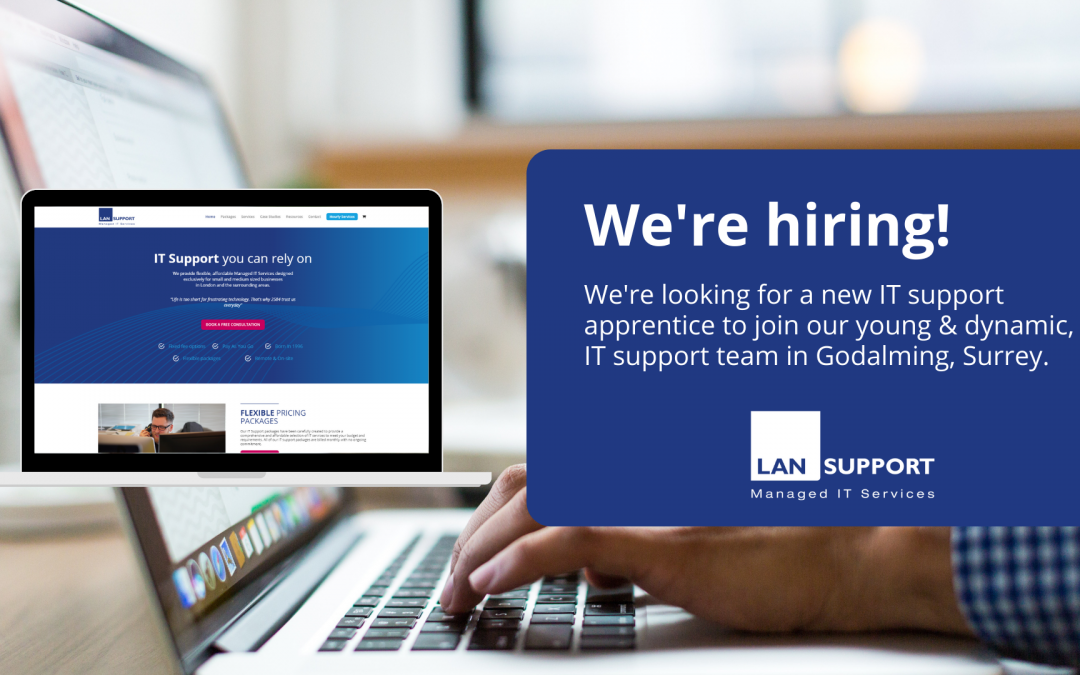 We're hiring! – apply to join our IT support team